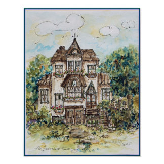 print....victorian house poster