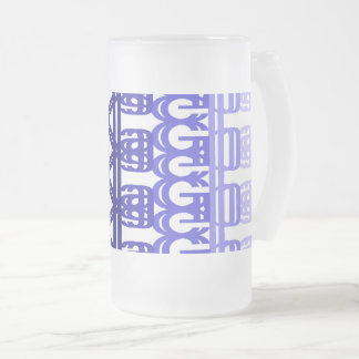 print with letters frosted glass beer mug