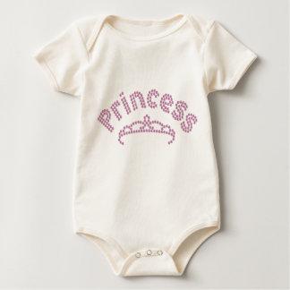 Printed Rhinestone Princess Tiara Baby Bodysuit