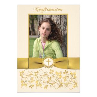 PRINTED RIBBON Confirmation Photo Invitation