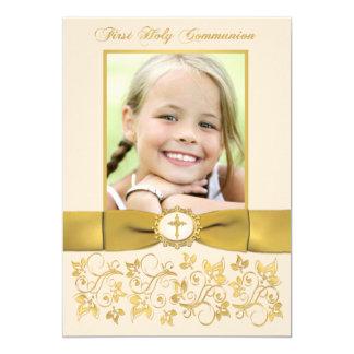 PRINTED RIBBON Holy Communion Photo Invite