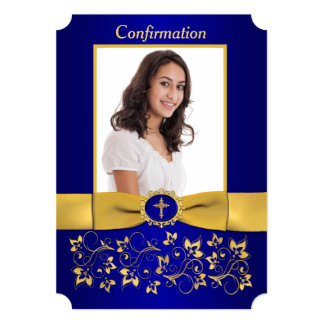 PRINTED RIBBON Ticket Shaped Confirmation Photo Card