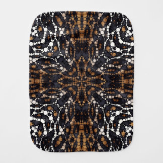 Printed Tiger Bling Pattern Burp Cloth