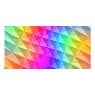 prism squares pattern custom photo card