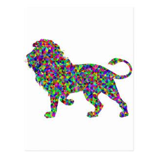 Prismatic Rainbow Lion Postcard