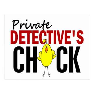 PRIVATE DETECTIVE'S CHICK POSTCARD
