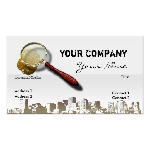 Private Investigator Double-Sided Standard Business Cards