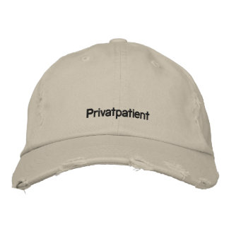 Private patient embroidered baseball caps