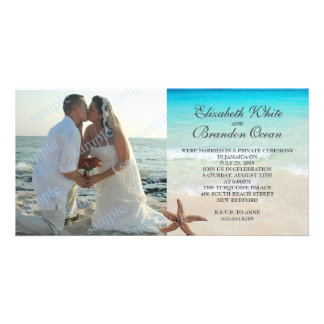 Private Wedding Reception Only Photo Announcement Picture Card