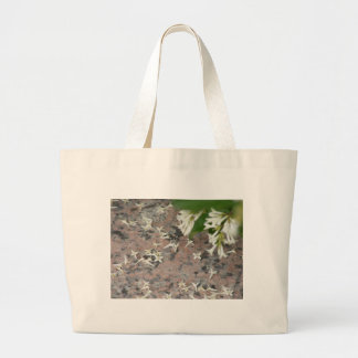 Privet Blossoms on Granite Tote Bag