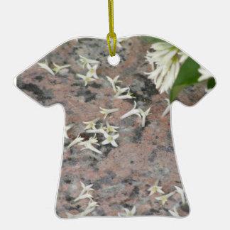 Privet Blossoms on Granite Christmas Tree Ornament