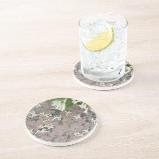 Privet Blossoms on Granite Coasters