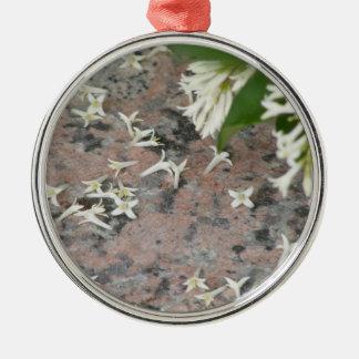 Privet Blossoms on Granite Christmas Ornament