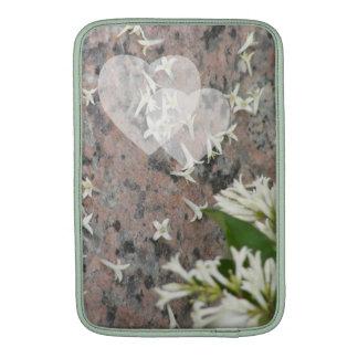 Privet Blossoms on Granite Sleeve For MacBook Air