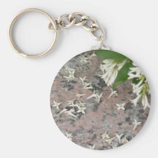 Privet Blossoms on Granite Key Chains