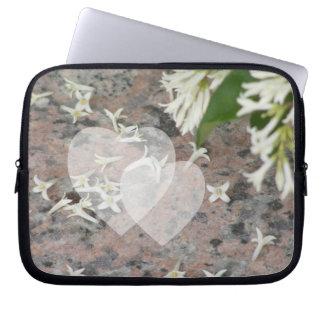Privet Blossoms on Granite Laptop Computer Sleeves