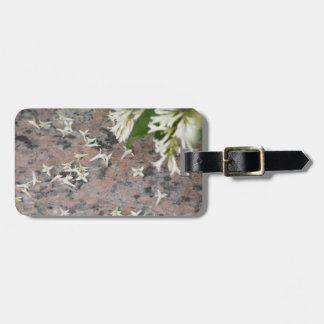 Privet Blossoms on Granite Luggage Tags