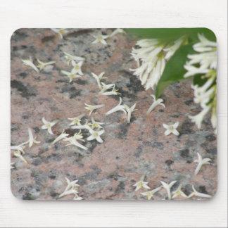 Privet Blossoms on Granite Mouse Pad