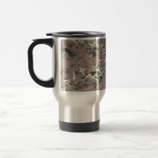 Privet Blossoms on Granite 15 Oz Stainless Steel Travel Mug