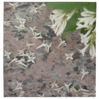 Privet Blossoms on Granite Napkin