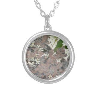 Privet Blossoms on Granite Custom Necklace