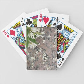 Privet Blossoms on Granite Poker Cards