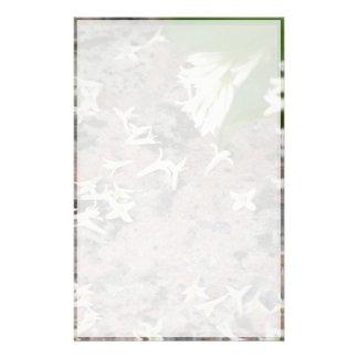 Privet Blossoms on Granite Stationery Paper