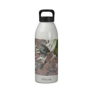 Privet Blossoms on Granite Reusable Water Bottles
