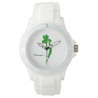 PRLimages Green Iris Watch