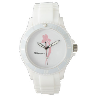 PRLimages White Sport Pink Iris Watch