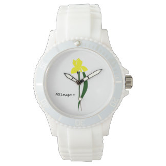 PRLimages Yellow and Green Iris Watch