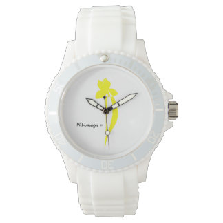 PRLimages Yellow Iris Watch