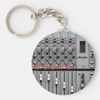 Pro Audio Mixer Basic Round Button Key Ring