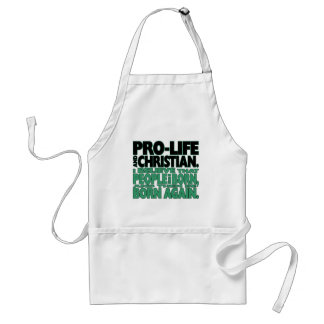 """Pro-Life and Christian"" Apron"