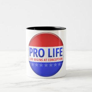 Pro Life Two-Tone Mug