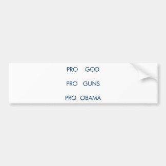 pro obama and guns bumper sticker