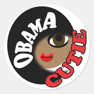 Pro Obama Classic Round Sticker