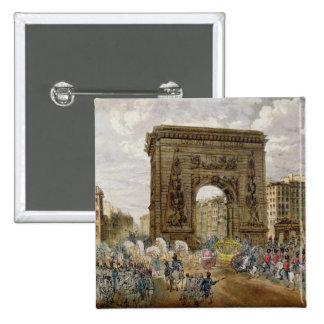 Procession of Pope Pius VII  in Paris 15 Cm Square Badge