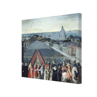 Procession of the Brotherhood of Saint-Michel Canvas Print