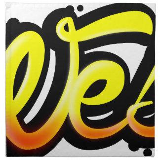 Product graffiti wesh napkin
