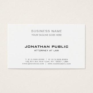 Professional attorney lawyer modern elegant simple business card