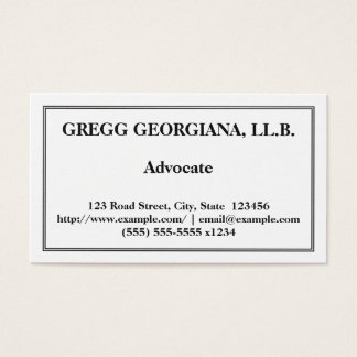 Professional & Basic Advocate Business Card