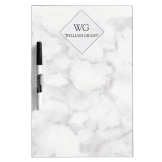 Professional Best Friend White Marble Monogram Dry Erase Board