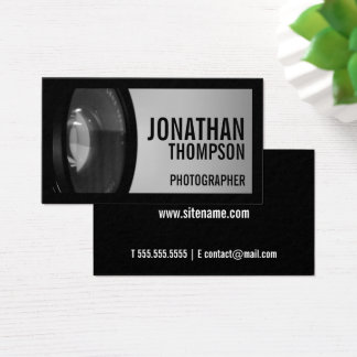 Professional Black and White Photography Business Card