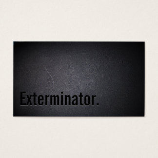 Professional Black Out Exterminator Business Card
