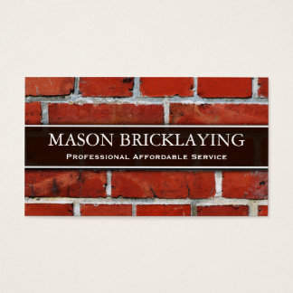 Professional Builder / Bricklaying Business Card