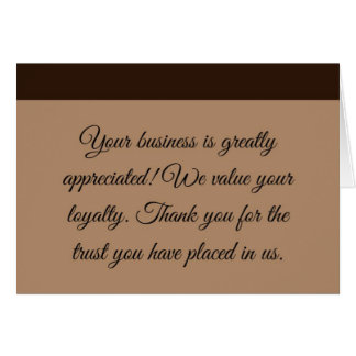 Professional Business Thank You Card
