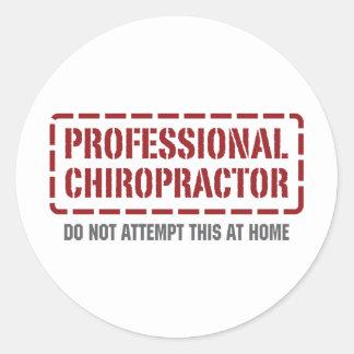 Professional Chiropractor Round Sticker
