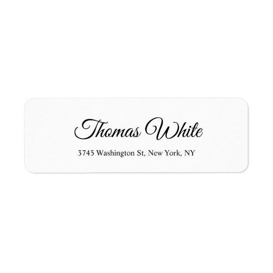 Professional Classical Plain Black White Unique