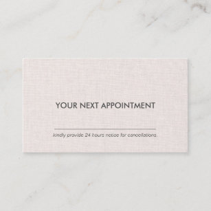 Appointment business cards zazzle nz professional clean layout linen appointment business card reheart Image collections